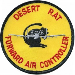 Forward Air Controller - 4th Armoured Brigade Desert Rat  Embroidered Military Formation arm badge
