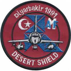Desert Shield - Diyarbakir 1991   Embroidered Gulf War cloth badge