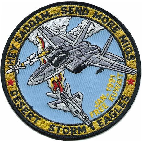 Force Maintenance Area (FMA) Black Adder In NBC Suit/Respirator  Sticker Gulf War zap-sticker
