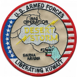 US Armed Forces Desert Storm - Liberating Kuwait   Embroidered Gulf War cloth badge