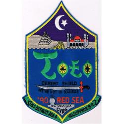 USS Detroit Desert Shield 'Toto we're not in Kansas'   Embroidered Gulf War cloth badge