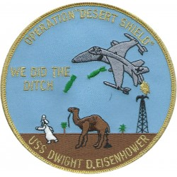 USS Dwight D Eisenhower - 'We did the ditch'   Embroidered Gulf War cloth badge