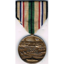 US Forces Gulf Medal - 'South West Asia Service'    Gulf War miscellaneous collectible