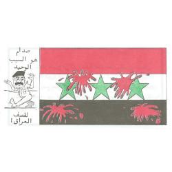 Iraqi Flag/Saddam - The Sole Reason For Bombing Iraq propaganda air-drop  Leaflet Propaganda Leaflet
