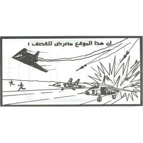 Stealth Fighter Attacking Planes   'This Position Is Exposed To Bombing'  Leaflet Propaganda Leaflet