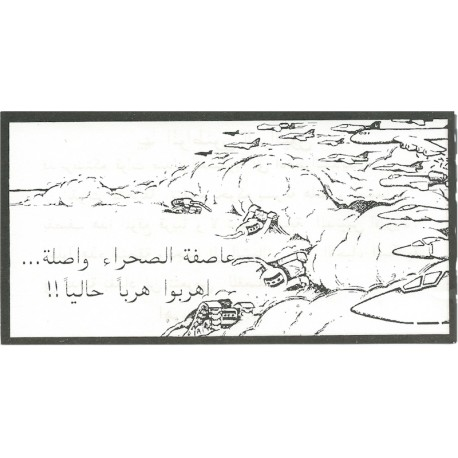 Desert Storms Are Coming... Run Now: Immediately Reverse In Red  Leaflet Propaganda Leaflet