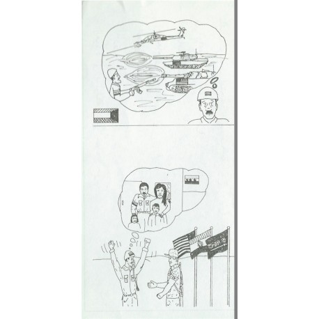 United States Is Conforming To The Geneva Convention War & Family Cartoon  Leaflet Propaganda Leaflet