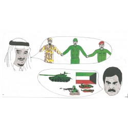 We Are All Brothers - Arab Neighbours- We Want Peace Colour Cartoon  Leaflet Propaganda Leaflet