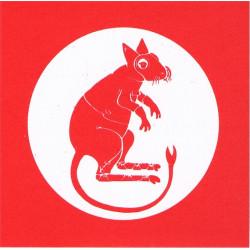7th Armoured Brigade Rat in NBC Suit/Respirator   Sticker Gulf War zap-sticker