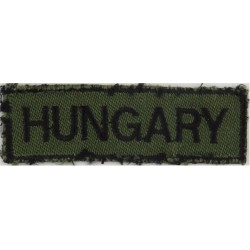 Hungary Nationality Title  -  Worn On Left Breast Of Camouflage Uniform  Embroidered Balkan War memorabilia