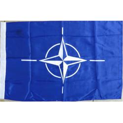 NATO Flag 86cm X 60cm  Printed Balkan War memorabilia