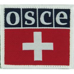 OSCE / Swiss Army Combined Badge OSCE & Swiss Flag  Woven Balkan War memorabilia