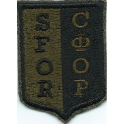 Lance-Corporal's Rank Stripe (Light Infantry) Green On Maize  Embroidered NCO or Officer Cadet rank badge