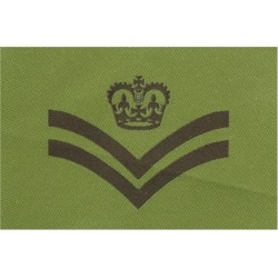 Sergeant's Rank Stripes (Special Air Service) Black/Pompadour Blue  Embroidered NCO or Officer Cadet rank badge