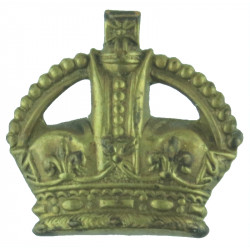 Colour Sergeant's Rank Crown  with King's Crown. Brass NCO or Officer Cadet rank badge