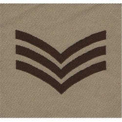 Sergeant's Rank Chevrons For Greatcoat 21cm Across Black On Red - Huge! Sewn NCO or Officer Cadet rank badge
