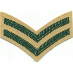 Lance-Corporal's Rank Badge For Chef's White Uniform Brooch Fitting  Chrome-plated NCO or Officer Cadet rank badge