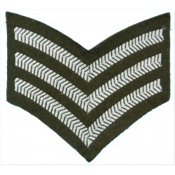 Sergeant's Rank Stripes No.2 Dress On Khaki  Embroidered NCO or Officer Cadet rank badge