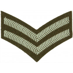 Corporal - Australian Army On Jungle Green  Woven NCO or Officer Cadet rank badge