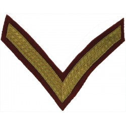 Corporal's Rank Stripes - No.1 Dress - On Royal Blue 4/7 RDG Bullion wire-embroidered NCO or Officer Cadet rank badge