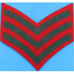 UOTC Junior Under-Officer - Olive Black Knot & 1 Bar  Embroidered NCO or Officer Cadet rank badge