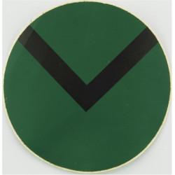NBC Suit Rank Sticker - Lance-Corporal Black On Green  Vinyl NCO or Officer Cadet rank badge
