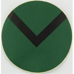 UOTC Senior Under-Officer - Olive White Knot & 2 Bars  Embroidered NCO or Officer Cadet rank badge