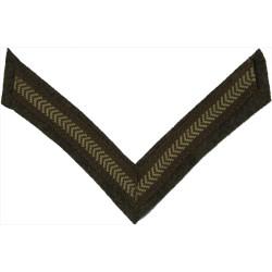 Lance-Corporal's Rank Stripe (Battle-Dress) Khaki  Braid NCO or Officer Cadet rank badge