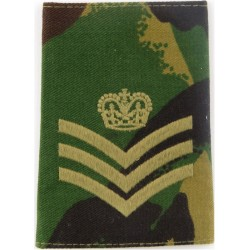 FANY Cadet Ensign (First Aid Nursing Yeomanry (PRVC) On Camouflage  Embroidered NCO or Officer Cadet rank badge
