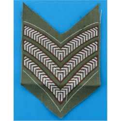 CCF Junior Under-Officer - Brown On Olive Knot & 1 Bar Embroidered NCO or Officer Cadet rank badge
