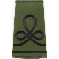 QOGLR Lance Cpl (Queen's Own Gurkha Logistic Regt) Olive Rank Slide Embroidered NCO or Officer Cadet rank badge