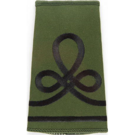 QOGLR Lance Cpl (Queen's Own Gurkha Logistic Regt) Olive Rank Slide Embroidered NCO or Officer Cadet rank badge