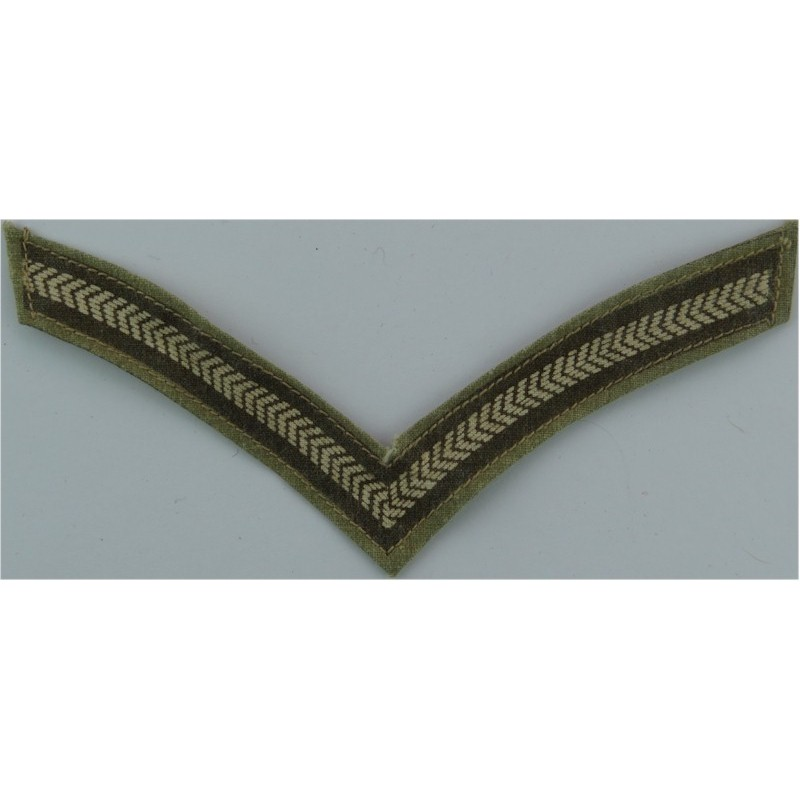 Chief Warrant Officer - Canadian Army Green On Olive with Queen Elizabeth's  Crown  Embroidered Warrant Officer rank badge