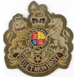 WO1 Sergeant Major's Rank Badge (Guards) Very Large - Khaki with Queen Elizabeth's Crown. Embroidered Warrant Officer rank badge