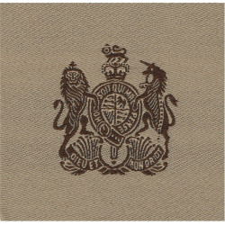 WO1 Rank Badge (Brown On Sand) Desert Combat Issue with Queen Elizabeth's Crown. Woven Warrant Officer rank badge