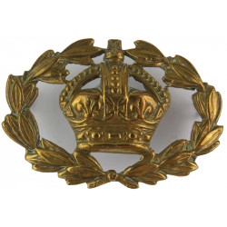 WO2 (RQMS) Rank Badge With Wreath  with King's Crown. Brass Warrant Officer rank badge