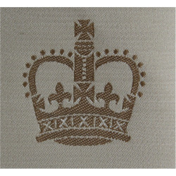 WO2 Rank Badge (Brown On Sand) Desert Combat Issue with Queen Elizabeth's Crown. Woven Warrant Officer rank badge