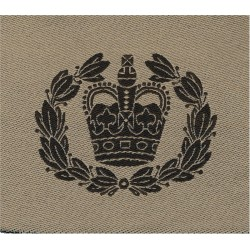 WO2 (RQMS) Rank Badge (Brown On Sand) Desert Combat Issue with Queen Elizabeth's Crown. Woven Warrant Officer rank badge