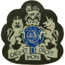 WO1 Rank Badge (White & Blue On Khaki - No Border) Parachute Regiment with Queen Elizabeth's Crown. Embroidered Warrant Officer