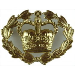 WO2 (RQMS) Rank Badge With Wreath Half-Size - QARANC with Queen Elizabeth's Crown. Anodised Warrant Officer rank badge