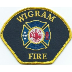 New Zealand: Wigram Air Force Base Fire Brigade Arm-Badge  Embroidered Fire and Rescue Service insignia