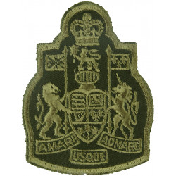 Chief Warrant Officer - Canadian Army Green On Olive with Queen Elizabeth's Crown. Embroidered Warrant Officer rank badge