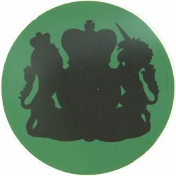 NBC Suit Rank Sticker - WO1 RSM Black On Green with Queen Elizabeth's Crown. Vinyl Warrant Officer rank badge