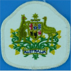 Warrant Officer Class 1 - Australian Army On White  Embroidered Warrant Officer rank badge