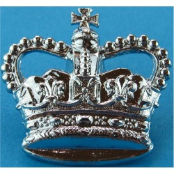 WO2 Rank Badge - Crown Only Light Infantry with Queen Elizabeth's Crown. Chrome-plated Warrant Officer rank badge
