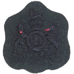 WO1 (RSM) Rank Badge (RGJ, 6GR, 7GR, 10GR, 21 SAS) Black On Green with Queen Elizabeth's Crown. Embroidered Warrant Officer rank
