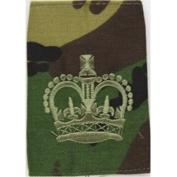 WO2 (Crown Only) Rank Badge On Camouflage (Combat '95 Uniform) with Queen Elizabeth's Crown. Embroidered Warrant Officer rank ba