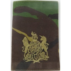 WO1 (RSM) - Combat 95 Pattern Brown On Camouflage with Queen Elizabeth's Crown. Embroidered Warrant Officer rank badge
