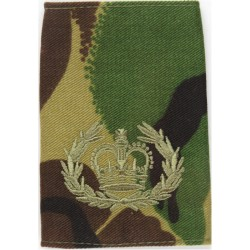 WO2 (RQMS) (Crown In Wreath) Camouflage (Combat '95 Uniform) with Queen Elizabeth's Crown. Embroidered Warrant Officer rank badg
