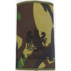 WO1 (RSM) R Signals (264 SAS Signal Squadron) Black On DPM with Queen Elizabeth's Crown. Embroidered Warrant Officer rank badge